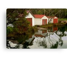 Anglesea Boat Sheds,Great Ocean Road Canvas Print