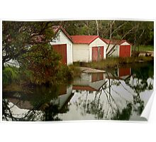 Anglesea Boat Sheds,Great Ocean Road Poster
