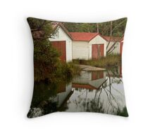 Anglesea Boat Sheds,Great Ocean Road Throw Pillow