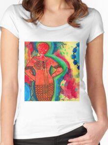 She's a SUPER Woman Women's Fitted Scoop T-Shirt