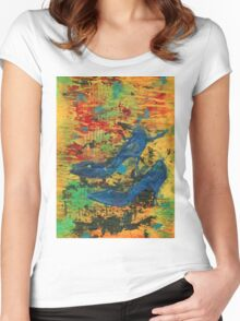My Blue Shoes Women's Fitted Scoop T-Shirt