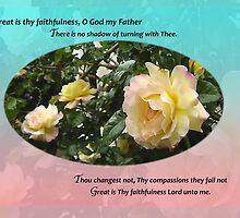 Great is Thy Faithfulness O God My Father Greeting Card by bronspst