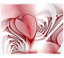 Accordian Heart Poster
