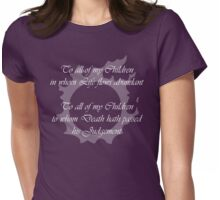 FFXIV - Answers Lyrics Womens Fitted T-Shirt