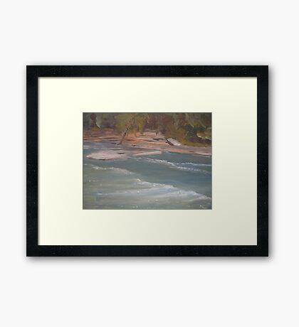 Above Middle Falls Framed Print