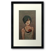 folding paper hearts  Framed Print