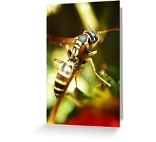 """""""Eco Base, The Wasp Has Landed"""" Greeting Card"""