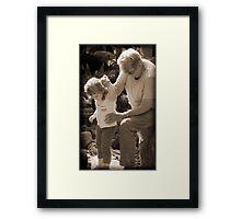 Tread Carefully my Little Precious Child Framed Print