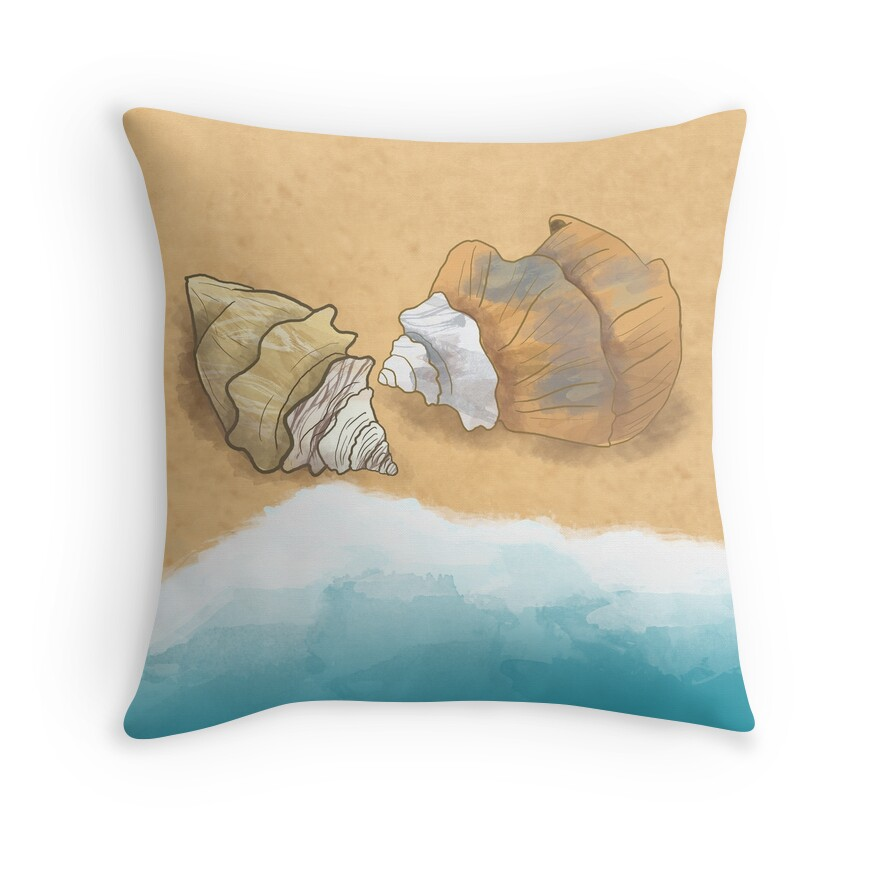 Beach Scene Throw Pillows :