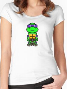 Purple Renaissance Turtle Women's Fitted Scoop T-Shirt