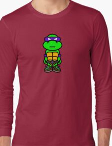 Purple Renaissance Turtle Long Sleeve T-Shirt
