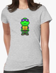 Purple Renaissance Turtle Womens Fitted T-Shirt