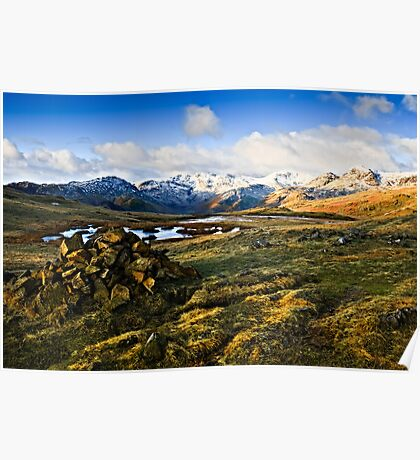 The Langdale Pikes, Cumbria. Poster