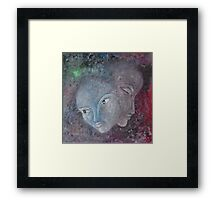 Painting of faces Framed Print