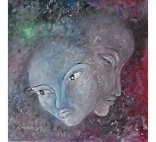Painting of faces Photographic Print