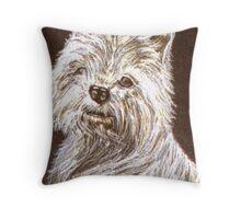 Scottie Dog Card Throw Pillow