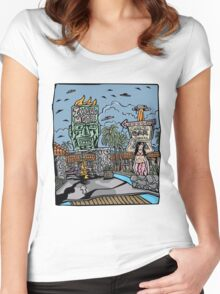Island Motel Women's Fitted Scoop T-Shirt