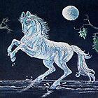 White Horse Under Moon by sharpie