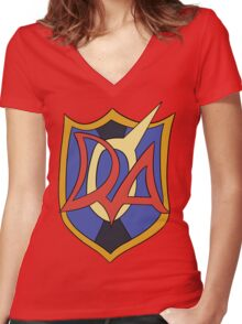 Duel Academia Women's Fitted V-Neck T-Shirt