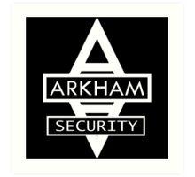 Batman - Arkham Security Art Print