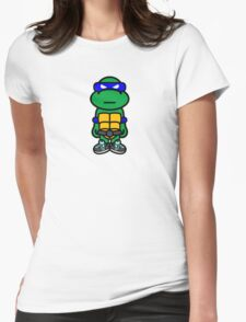 Blue Renaissance Turtle Womens Fitted T-Shirt