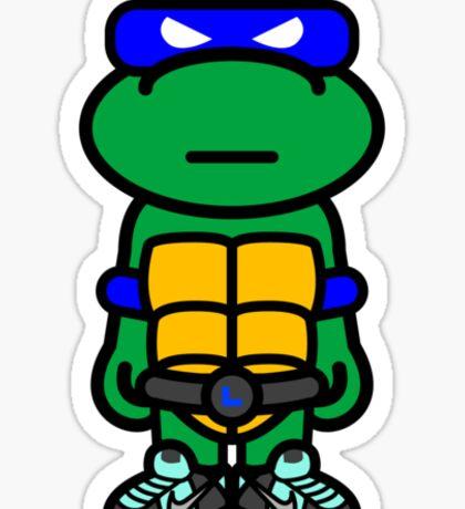 Blue Renaissance Turtle Sticker