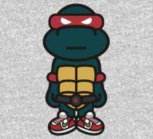 Red Renaissance Turtle One Piece - Short Sleeve