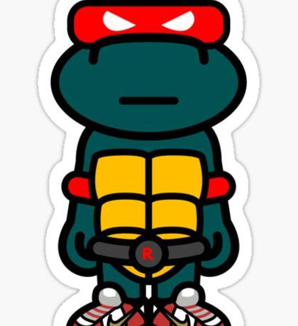 Red Renaissance Turtle Sticker