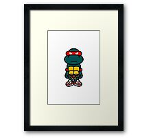 Red Renaissance Turtle Framed Print
