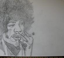 Jimi Hendrix drawing by DorisD