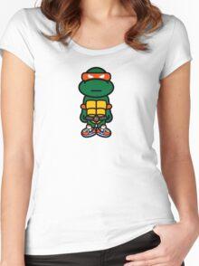 Orange Renaissance Turtle Women's Fitted Scoop T-Shirt