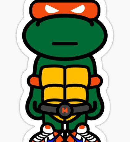 Orange Renaissance Turtle Sticker