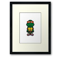Orange Renaissance Turtle Framed Print