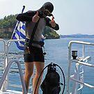 Grecian Scuba Diver by Joanna Beilby