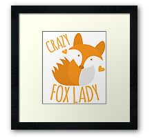 Crazy Fox lady Framed Print