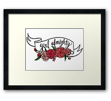 girl almighty Framed Print