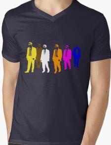 Reservoir Colors with Mr. Blue Mens V-Neck T-Shirt