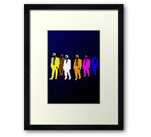 Reservoir Colors with Mr. Blue Framed Print