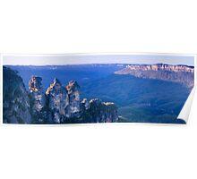Blue Mountain Panoramic Poster