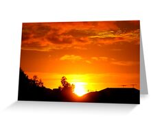 Paint The Sky Gold Greeting Card