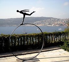 sculpture, Ephrussi de Rothschild mansion, Cap Ferrat by BronReid