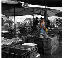 Fruit shopper at markets Photographic Print