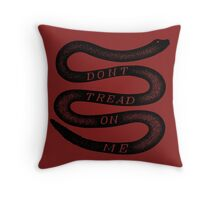 Vintage Dont Tread On Me Throw Pillow