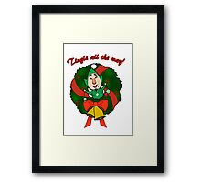 Tingle All the Way Framed Print