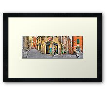Genoa Alley Framed Print