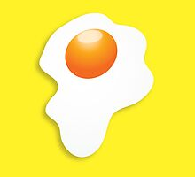 Dripping fried egg sunny side up by jazzydevil