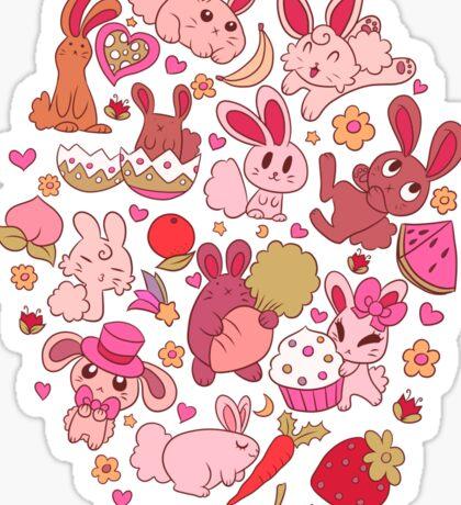 Adorable Bunnies Sticker
