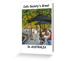 Café Society, Pyrmont, NSW Australia  Greeting Card