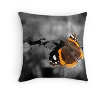 Admiral, Red Admiral Butterfly. Throw Pillow