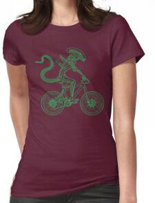 Alien Ride Womens Fitted T-Shirt